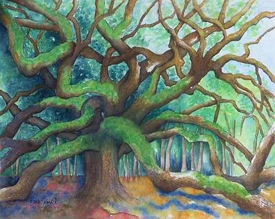 Painting - Angel Oak Take 3 by Barb Toland