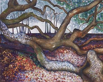 Painting - Angel Oak Take 5 by Barb Toland