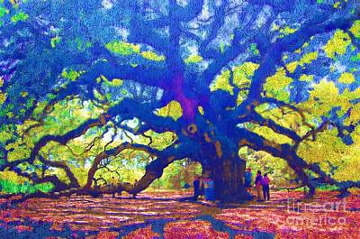 Photograph - Angel Oak Tree by Donna Bentley