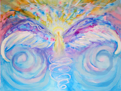 Angel Painting - Angel Of Change by Anne Cameron Cutri