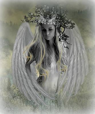Digital Art - Angel Of Contentment by Ali Oppy