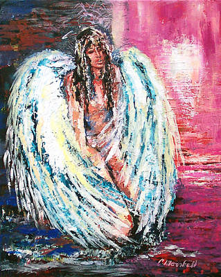 Angel Of Dreams Art Print by Claude Marshall