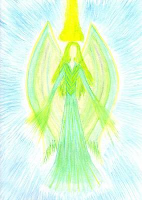 Angel Of Generosity Art Print by Konstadina Sadoriniou - Adhen