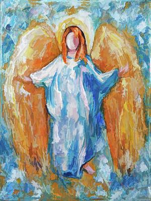 Digital Art - Angel Of Harmony 18x24 by Lena  Owens OLena Art