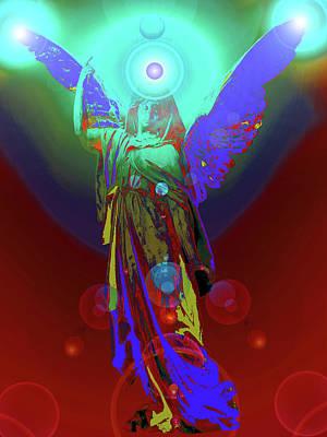 Seraphim Angel Mixed Media - Angel Of Harmony No. 07 by Ramon Labusch