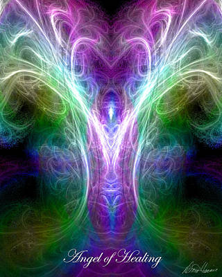 Digital Art - Angel Of Healing by Diana Haronis