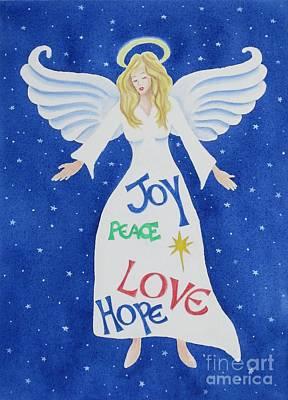 Night Angel Painting - Angel Of Hope by Deborah Ronglien