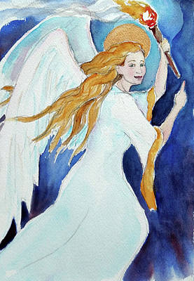 Painting - Angel Of Illumination by Christie Michelsen