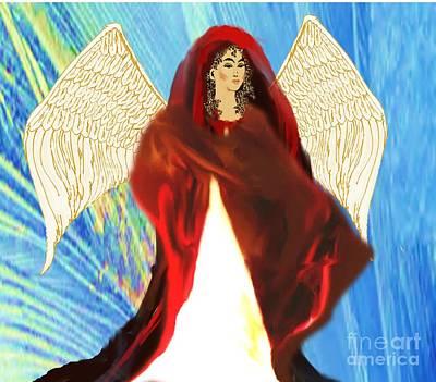 Painting - Angel Of Integrity by Belinda Threeths