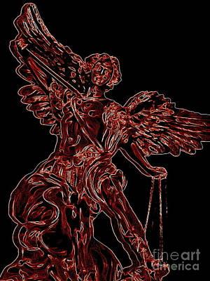 Digital Art - Angel Of Justice by Ed Weidman
