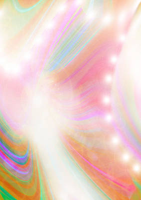 Angel Of Light And Colour Art Print by Mairin Gilmartin