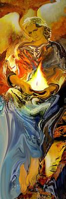 Angel Of Light Art Print by Anne Weirich