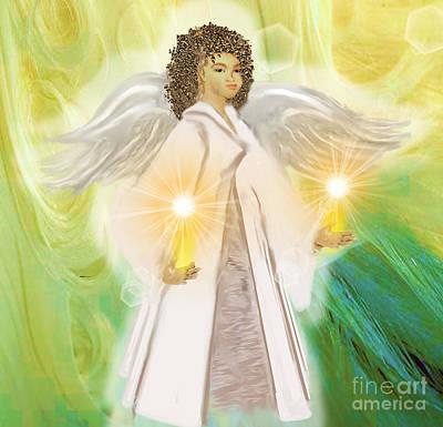 Painting - Angel Of Light by Belinda Threeths