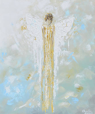 Angel Of Light Art Print by Christine Krainock