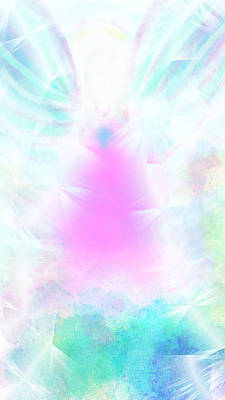 Digital Art - Angel Of Light by Rosana Ortiz