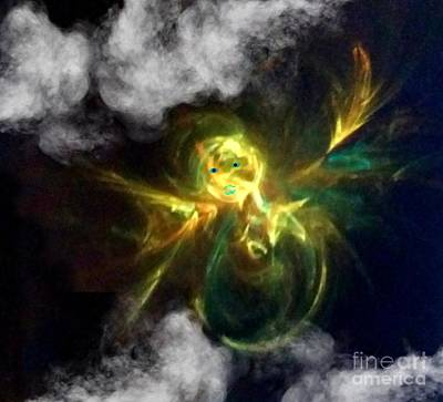 Digital Art - Angel Of Lilght by Diamante Lavendar