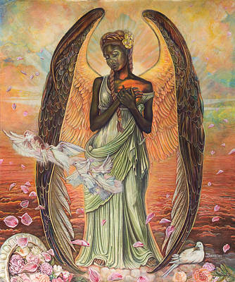 Painting - Angel Of Love by Buena Johnson