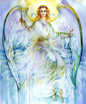 Angel Of Love Art Print by Karen Showell