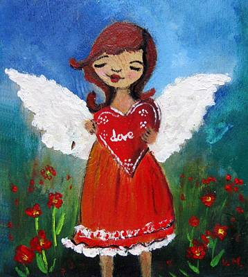 Painting - Angel Of Love by Vesna Martinjak