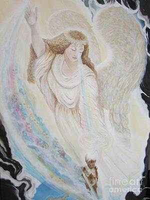 Painting - Flying Lamb Productions.   Angel Of Mercy -2 by Sigrid Tune
