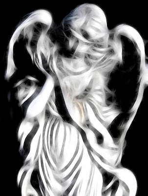 Digital Art - Angel Of Mercy by Holly Ethan