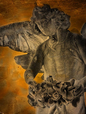 Grave Yard Photograph - Angel Of Mercy by Larry Marshall