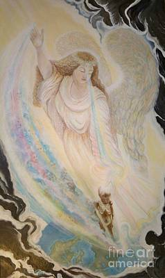 Painting - Flying Lamb Productions   Angel Of Mercy by Sigrid Tune