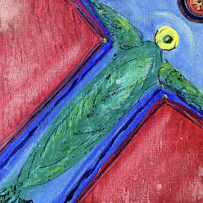 Painting - Angel Of New Directions by Dawn Richerson