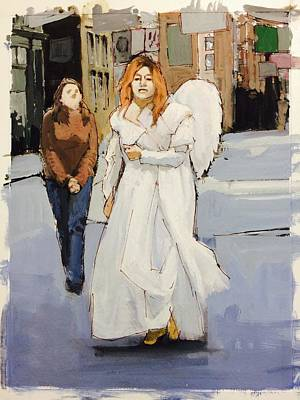 Gouache Photograph - Angel Of New York by H James Hoff
