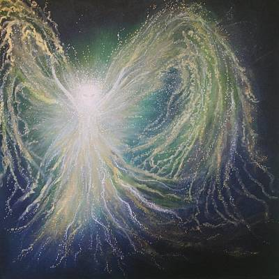 Spiritualism Painting - Angel Of Peace by Energy Print by Naomi Walker