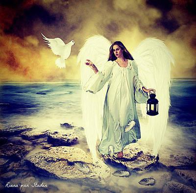 Digital Art - Angel Of Peace  by Riana Van Staden