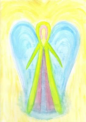 Angel Of Protection Art Print by Konstadina Sadoriniou - Adhen