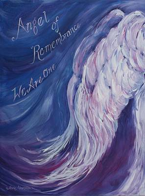 Angel Of Remembrance Art Print