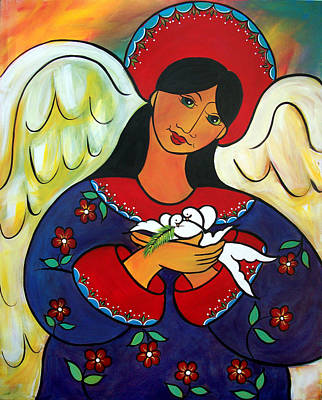 Painting - Angel Of Renewal by Jan Oliver-Schultz