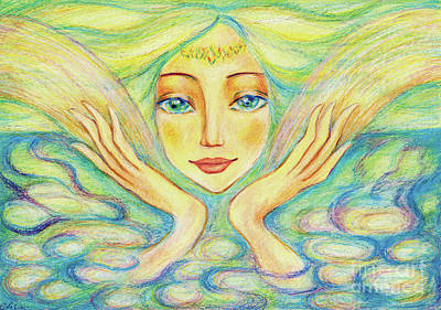 Painting - Angel Of Serenity by Eva Campbell