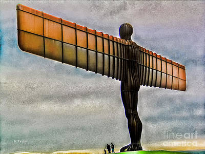 Photograph - Angel Of The North New Castle Uk by Rene Triay Photography