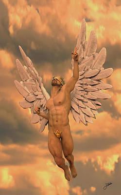Seraphim Angel Digital Art - Angel Of The Oranges by Joaquin Abella