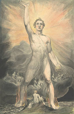 Drawing - Angel Of The Revelation by William Blake