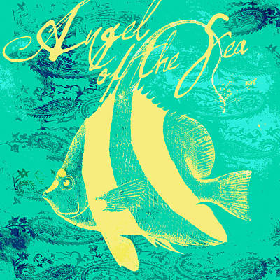 Tropical Fish Digital Art - Angel Of The Sea by Brandi Fitzgerald