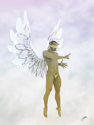 Angel Of The Sugar Cloud Art Print