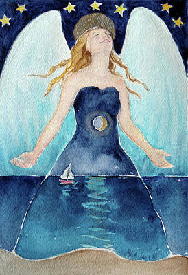 Painting - Angel Of Transcendence by Christie Michelsen