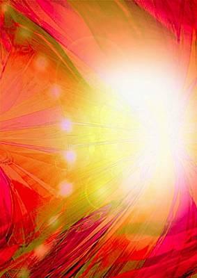 Angel Of Transformation Art Print by Mairin Gilmartin
