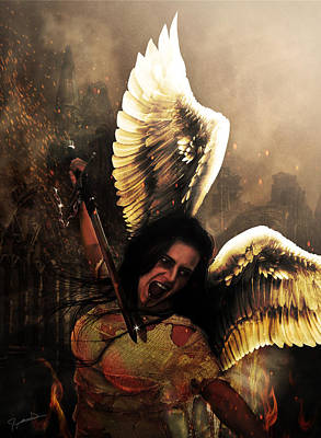 Photograph - Angel Of Vengeance by Jeremy Martinson