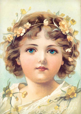 Painting - Sweet Angel Face by Tina LeCour