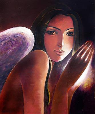 Angel Art Print by Ognian Kouzmanoav