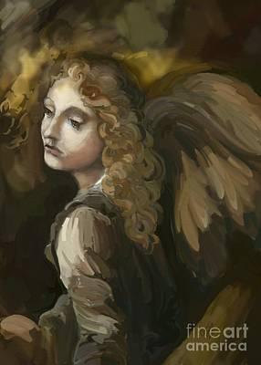 Angel On The Rocks Art Print