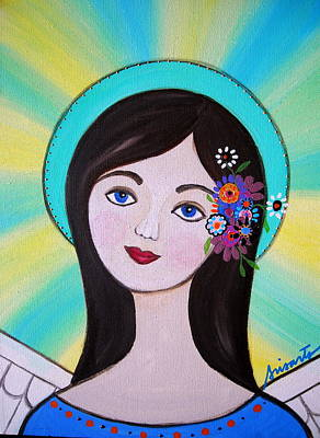 Mexican Painting - Angel Pristine by Pristine Cartera Turkus