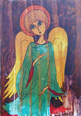 Greeting Card - Angel by Rae Chichilnitsky