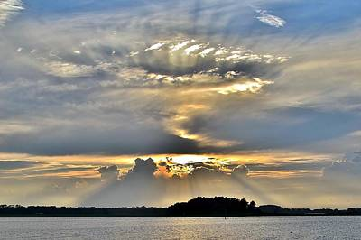 Photograph - Angel Ray Sunset by Kim Bemis
