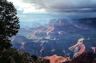 Angel S Gate And Wotan S Throne Grand Canyon National Park Art Print